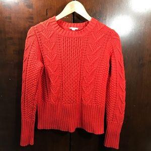 GAP | Orange cable-knit crewneck sweater size M